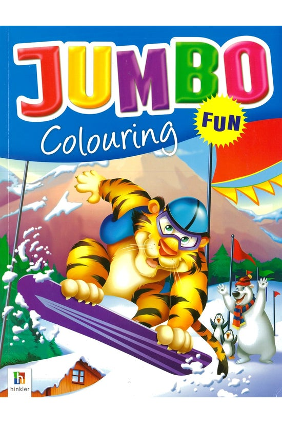 Jumbo Colouring Blue Tiger