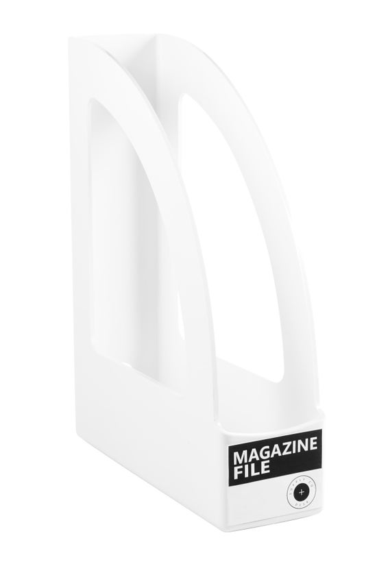 Magazine File White