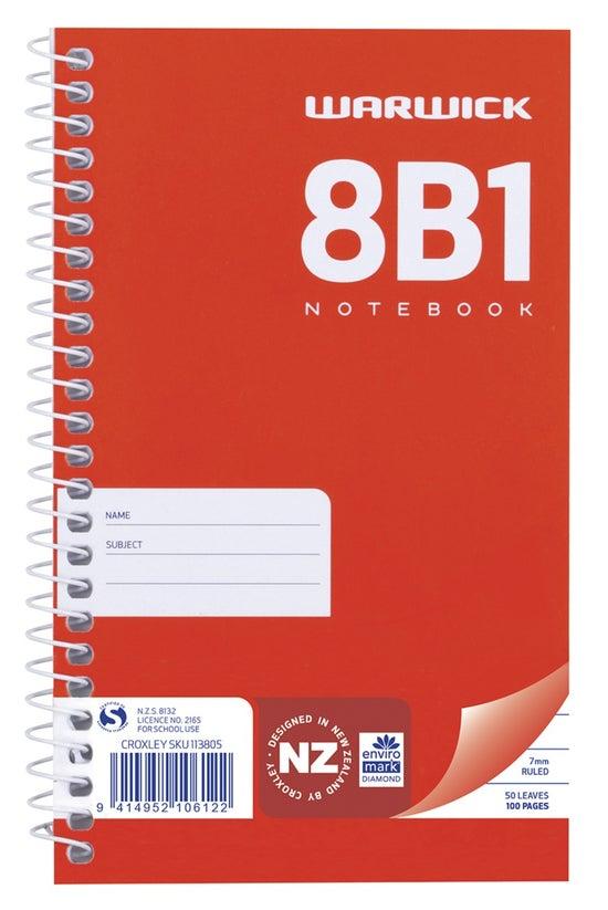 Warwick 8b1 Notebook Spiral 16...