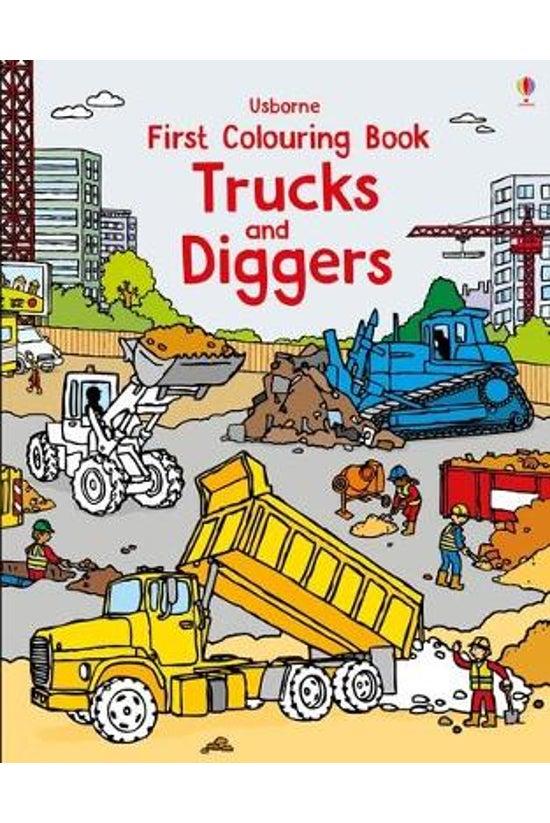First Colouring Book: Trucks A...