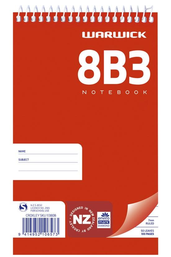 Warwick 8b3 Notebook Spiral 16...