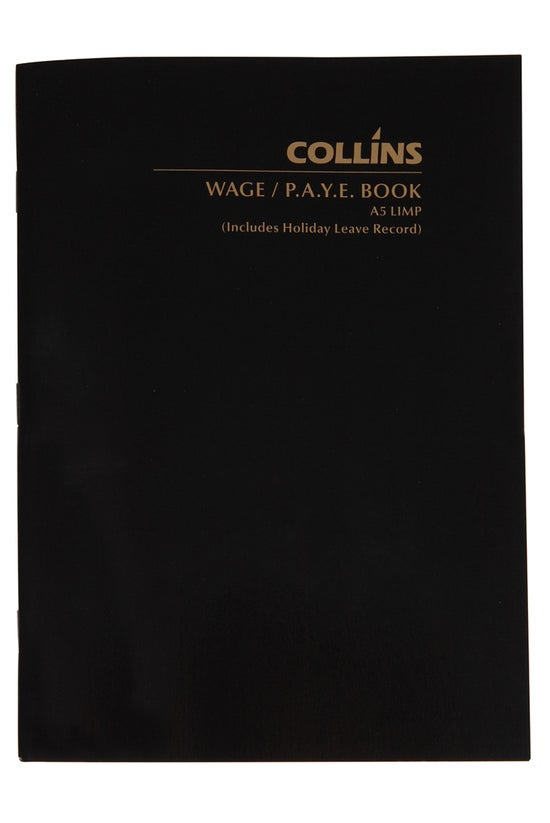 Collins Wage Paye Book Limp A5