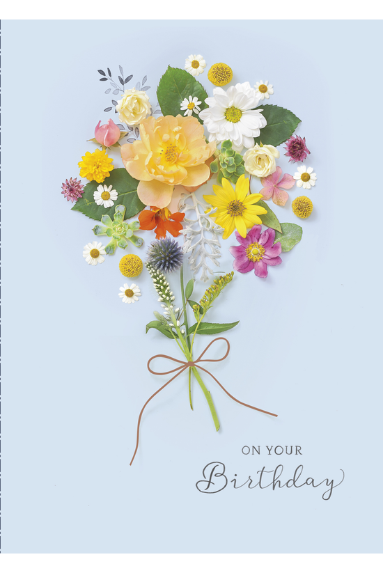 Birthday Card Meadow Bouquet
