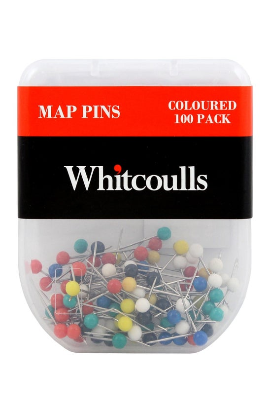 Whitcoulls Map Pins Assorted C...