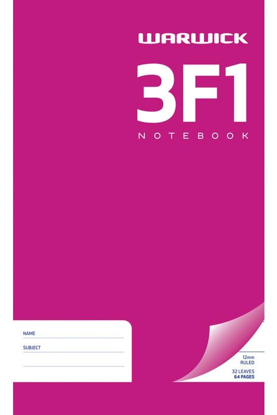Warwick 3f1 Notebook 165 X 100...