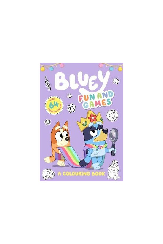 Bluey: Fun And Games Colouring...