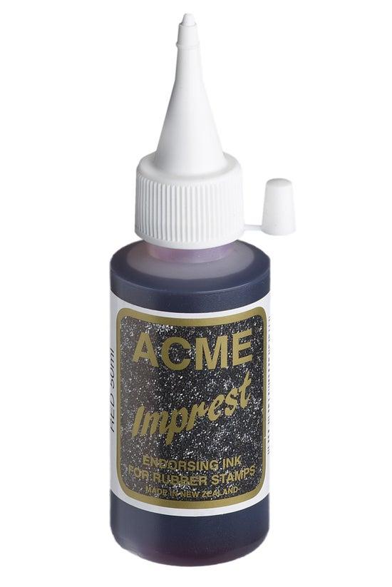 Acme Imprest Ink 50ml Red