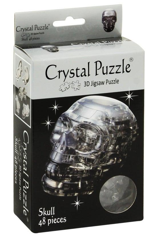 Crystal Puzzle Skull Black
