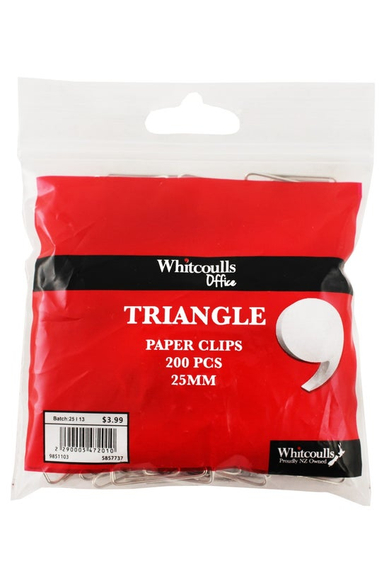 Whitcoulls Paper Clips Triangl...