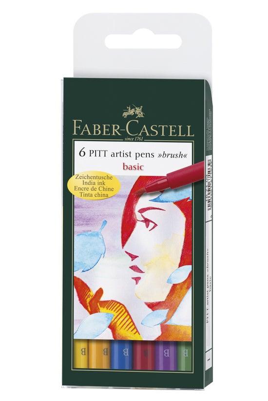 Faber Pitt Artist Brush Pens 6...