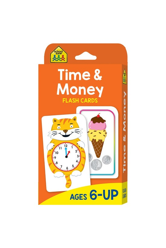 School Zone Flashcards: Time A...