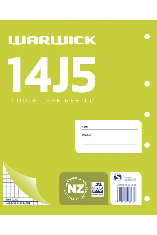 Warwick 14j5 Quad Refill 5mm