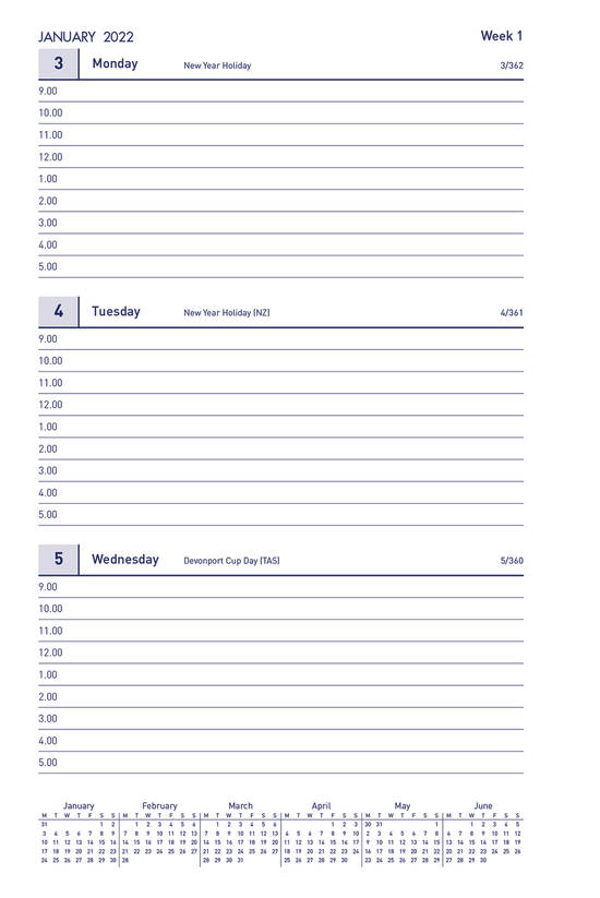 Milford Timeplanner 2022 Refil...