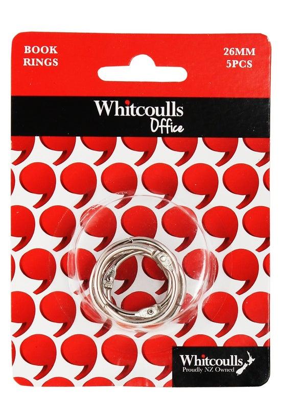 Whitcoulls Book Rings 26mm 5pk