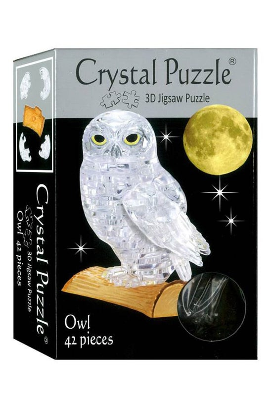 Crystal Puzzle Clear Owl