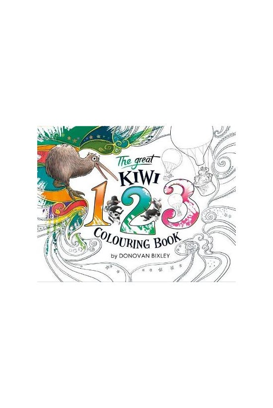The Great Kiwi 123 Colouring B...