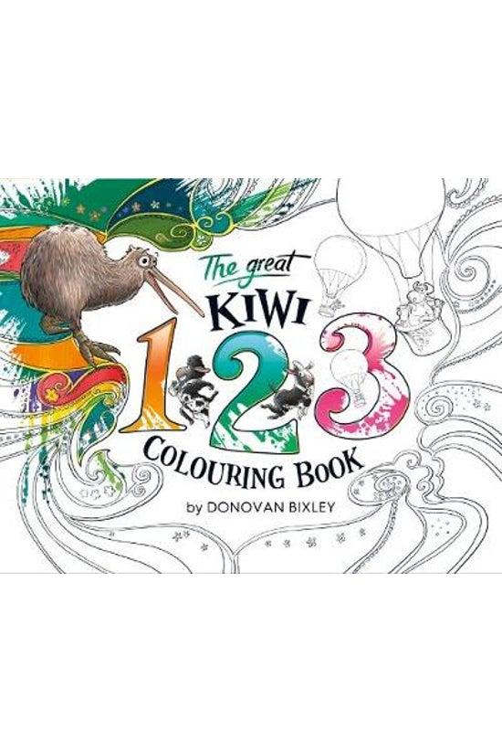 The Great Kiwi 123 Colouring B...
