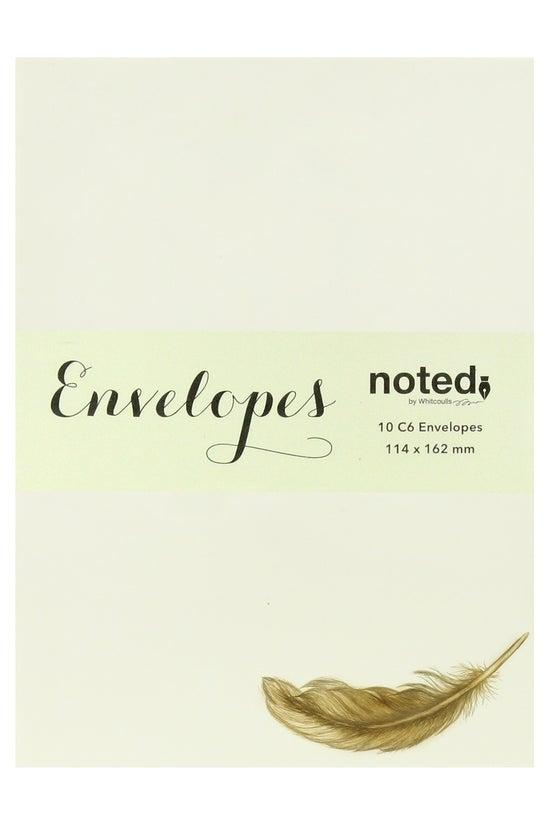 Noted Envelopes C6 Vintage Fea...