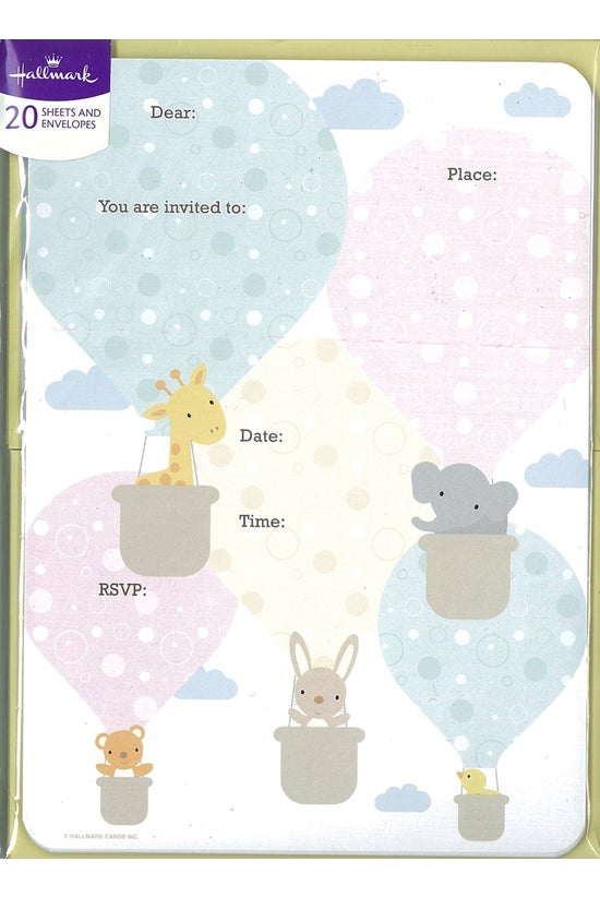 Baby Invite Pad Pack Of 20