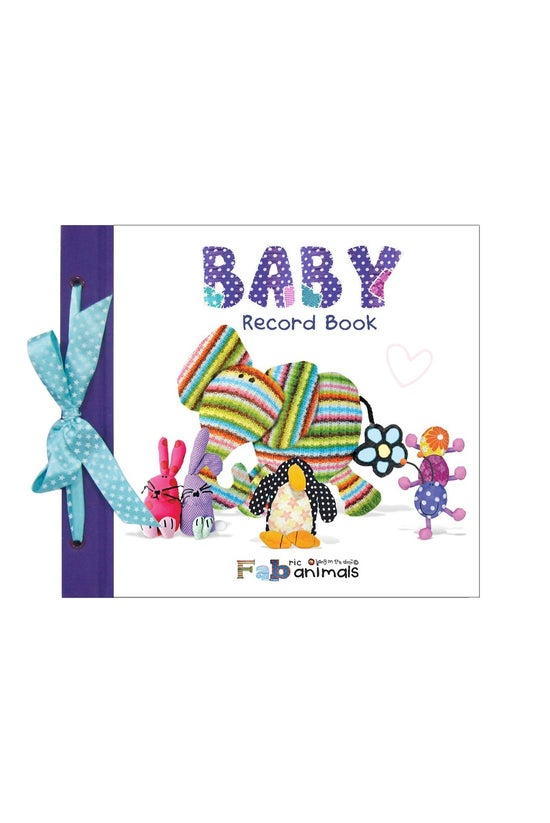 Baby Record Book Fabric Animal...
