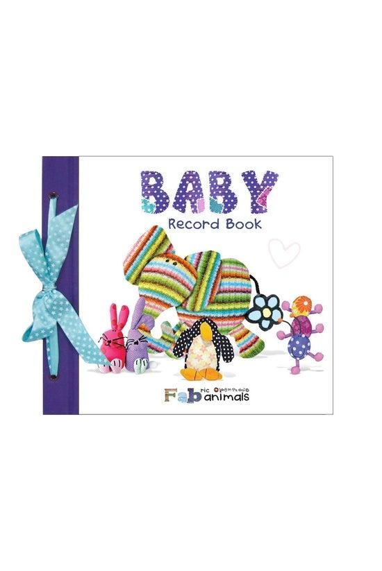 Baby Record Book Fabric Animal...