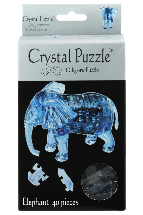 Crystal Puzzle Elephant Blue