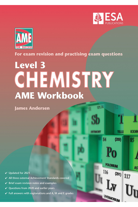 Ncea Level 3 Chemistry Ame Wor...