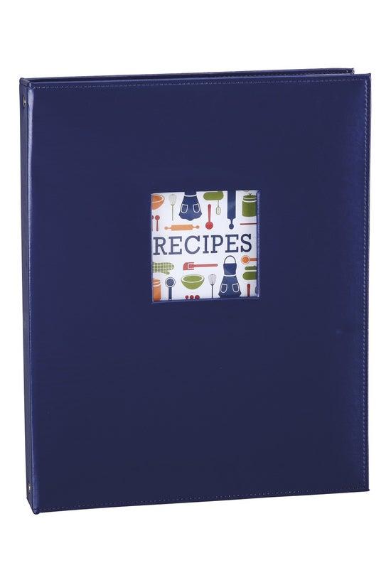 Noted Recipe Folder A4 Blue
