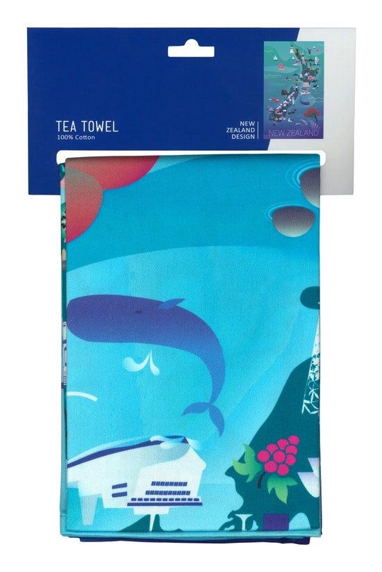 Parrs Tea Towel New Zealand Ma...