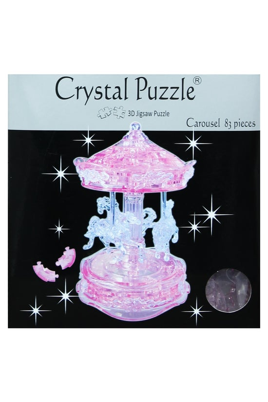 Crystal Puzzle Carousel Pink