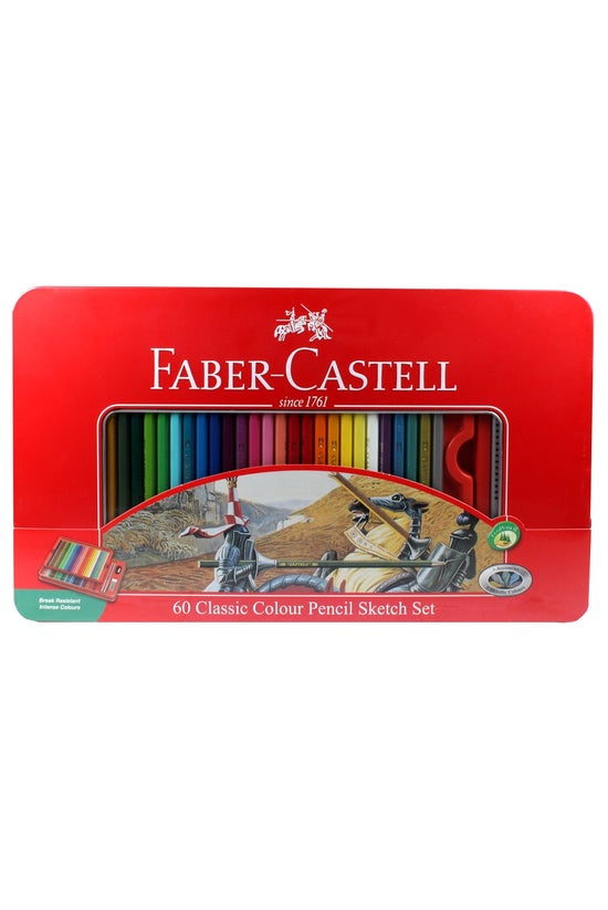 Faber Pencils Classic Red Tin ...