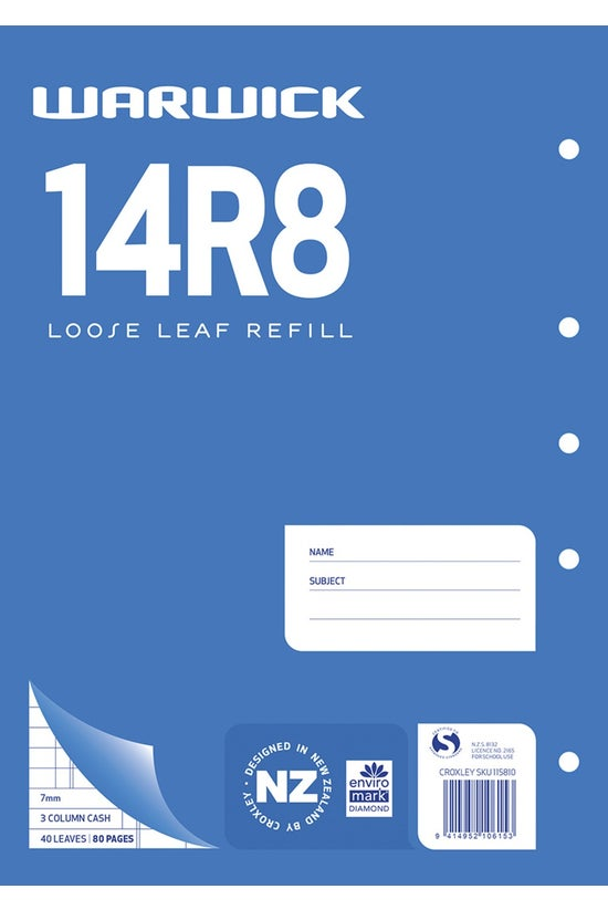 Warwick 14r8 Accounting Refill...
