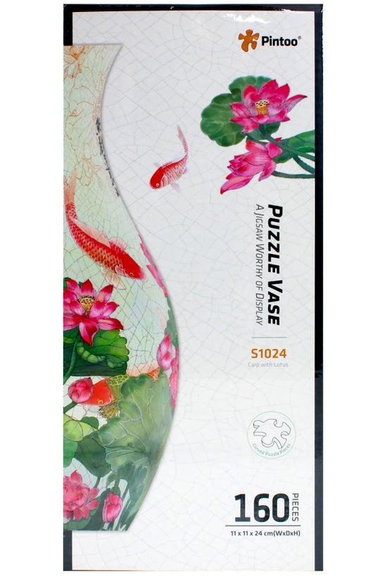 Pintoo Vase Carp & Lotus 3...