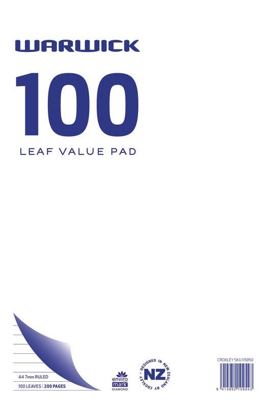 Warwick Refill Value Pad A4 10...