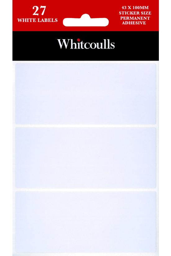 Whitcoulls White Rectangle Adh...