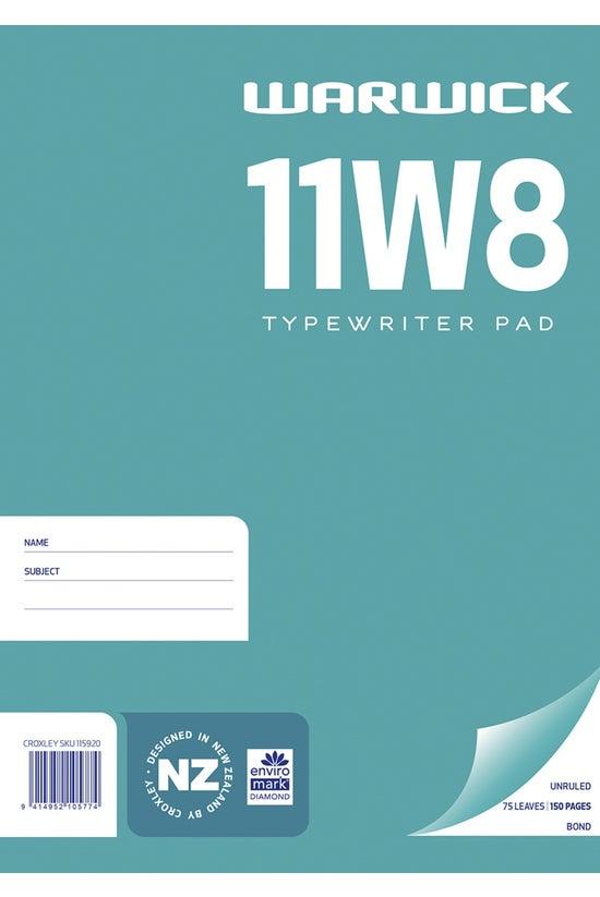 Warwick 11w8 Pad Typing Bond U...