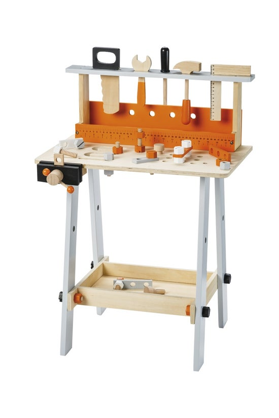 Wooden Toy Workbench With 32 A...
