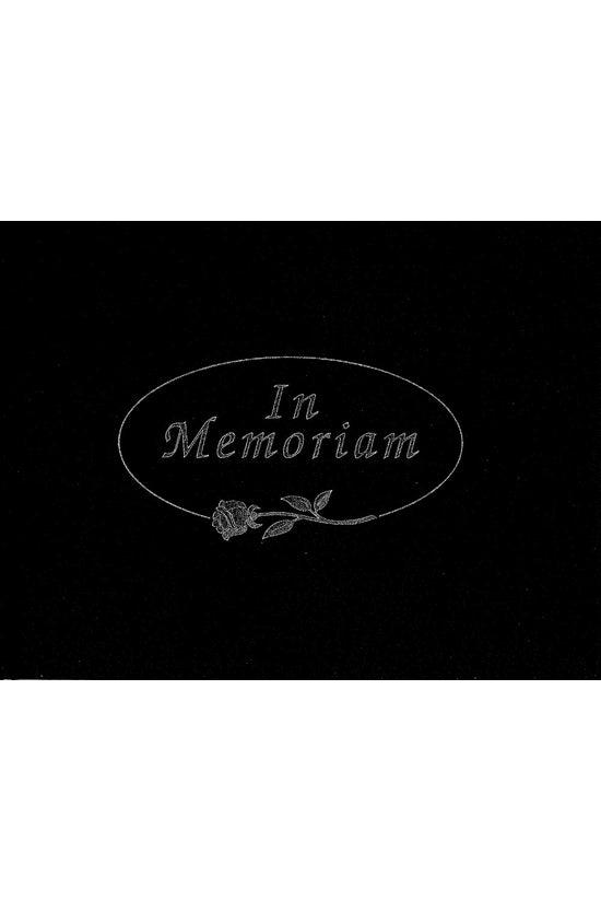 In Memoriam Book Black
