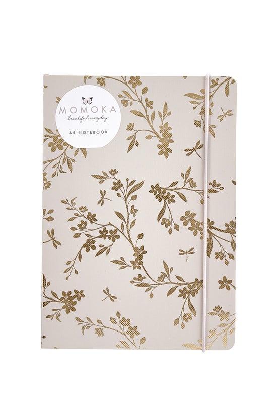 Whsmith Momoka A5 Gold Floral ...