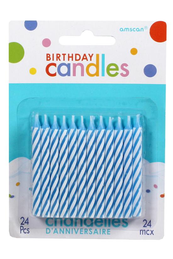 Amscan Candles Stripe Blue Pac...