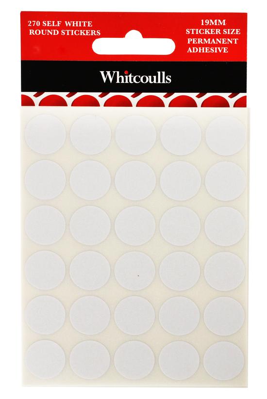 Whitcoulls White Round Sticker...