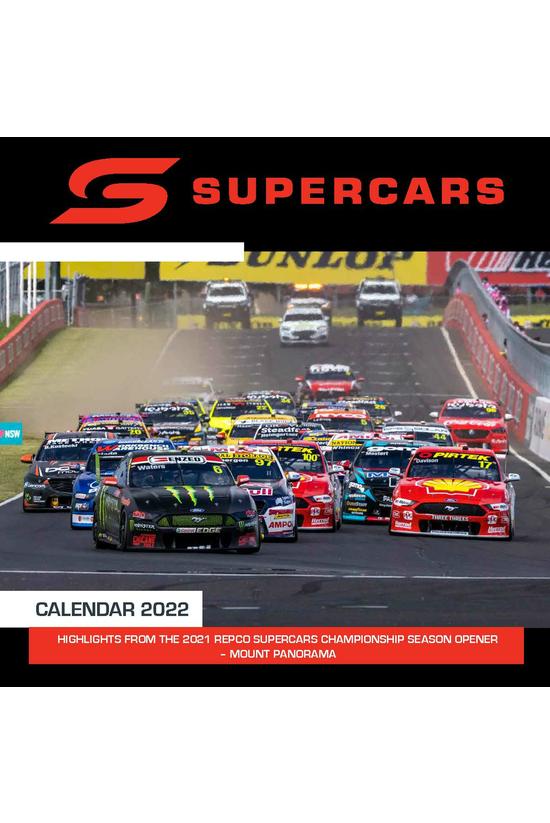 2022 Wall Calendar Supercars