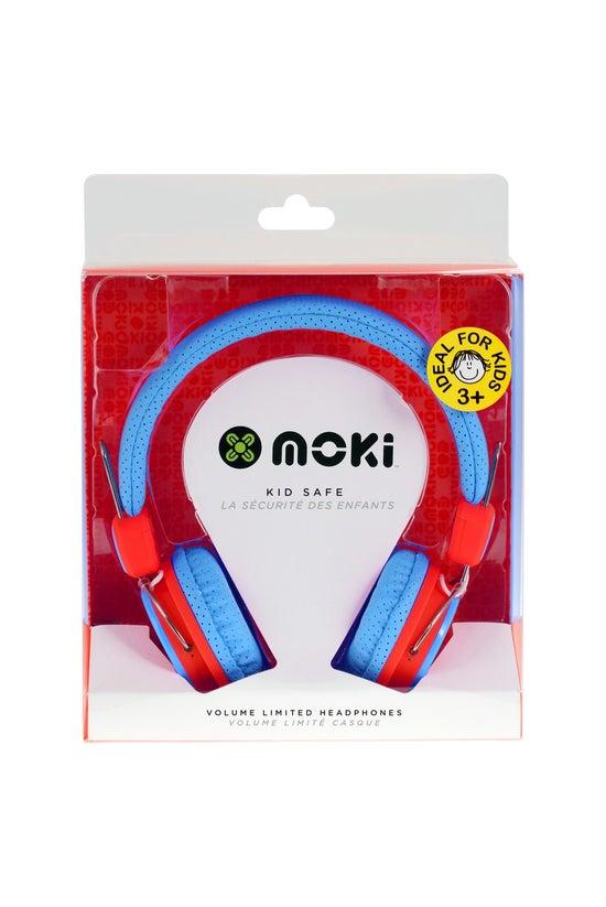 Moki Kids Safe Headphones Blue...