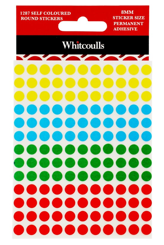 Whitcoulls Coloured Round Stic...