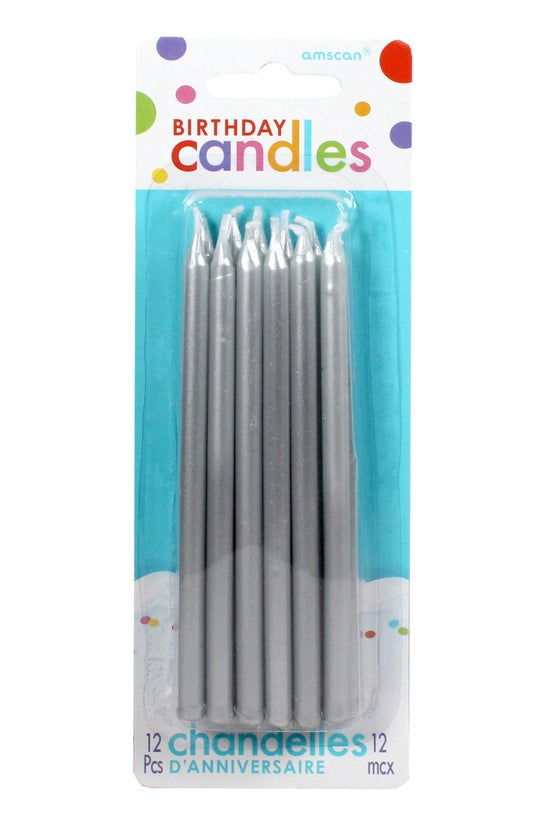 Amscan Candles Tall Silver Pac...