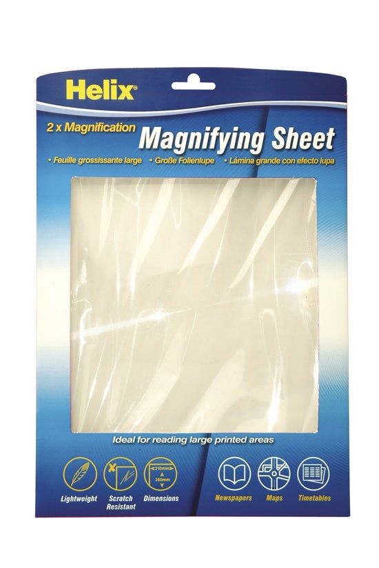 Helix Magnifying Sheet A4 2x
