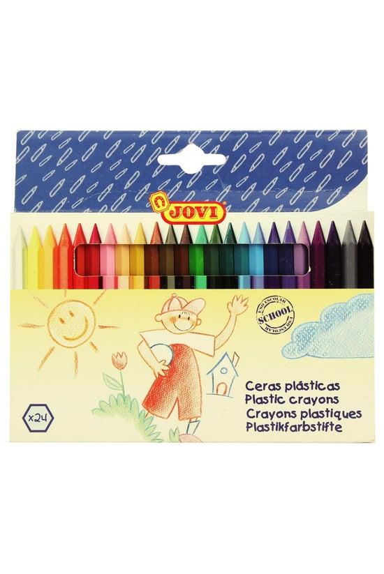 Jovi Plastic Crayons Pack 24