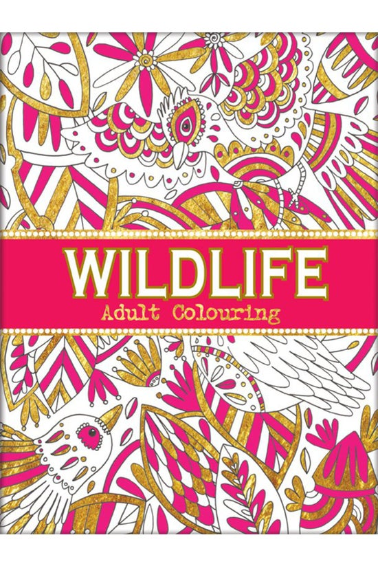 Wildlife Adult Colouring Book