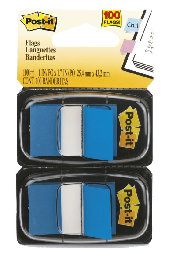 3m Post-it Flags Blue 2 Pack