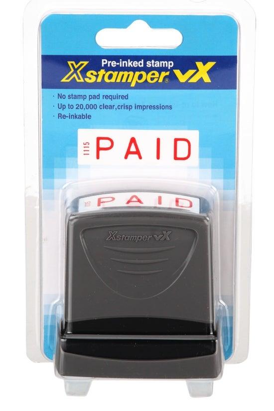 Xstamper Pre-inked Stamp Paid ...